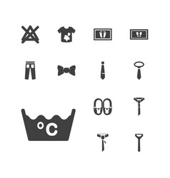 13 fabric icons vector