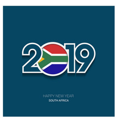 2019 south africa typography happy new year vector image