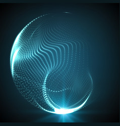 abstract destroyed mesh spheres vector image