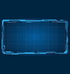 Abstract futuristic presentation empty frame vector