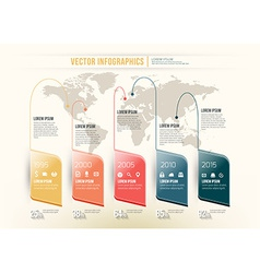 abstract timeline infographic design Workflow vector image
