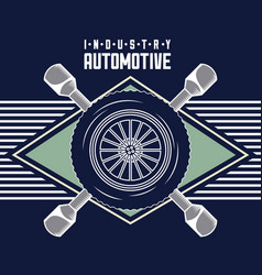automotive industry card vector image