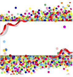 banner with confetti vector image