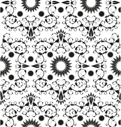 Baroque seamless geometric ornament vector image