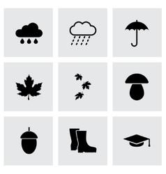 black academic icon set vector image