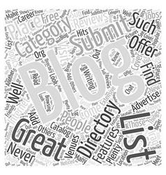 Blogging Directories Great Advertising Venues Word vector