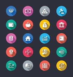 Business and investment simple color icons vector