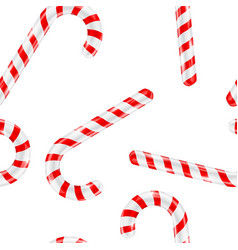 candy canes red white striped seamless vector image