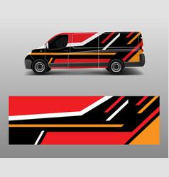 Car decal van designs wrap designs template vector