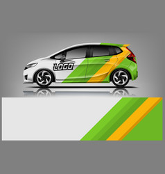 car decal wrap design for company vector image