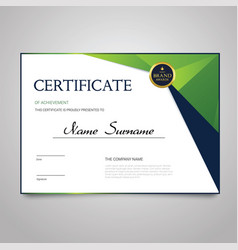 Certificate - horizontal elegant document vector