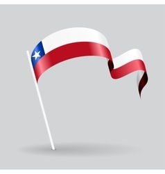 Chilean wavy flag vector image