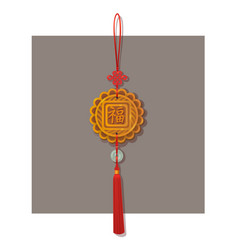 chinese lucky knot tassel hanging mascot decor vector image