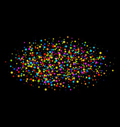 Colorful bright oval cloud confetti round papers vector