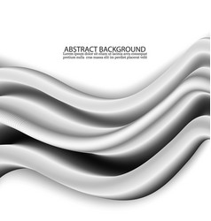 concept of abstract silver wave background design vector image