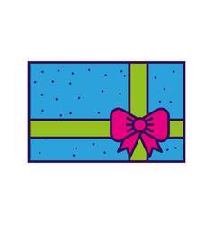 cute colofull gift cartoon vector image