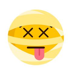 dead mummy emoji icon vector image