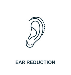 Ear reduction icon from plastic surgery vector