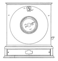 Early model cash register vintage vector