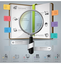 Education and graduation infographic vector