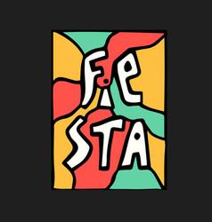 fiesta icon vector image