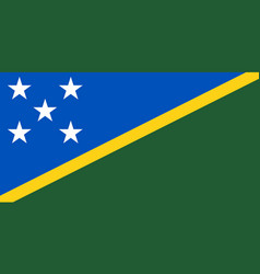 Flag of solomon islands official colors and vector