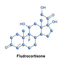 fludrocortisone is a corticosteroid vector image