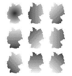 germany map halftone symbol icon design isolated vector image
