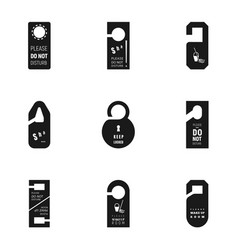 Hanger tag icon set simple style vector