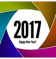 Happy new year 2017 on a background of the camera vector
