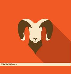 horned goat logo vector image