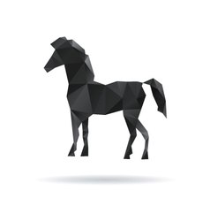 Horse abstract isolated on a white backgrounds vector image