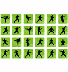 icons of karate vector image