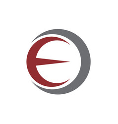 initial ec circle logo template vector image