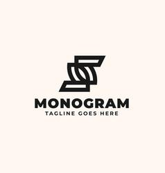 initial z monogram logo template vector image