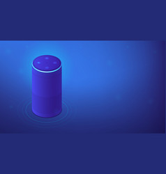 Isometric voice assistant vector