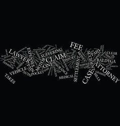 lawyers and their fees text background word cloud vector image