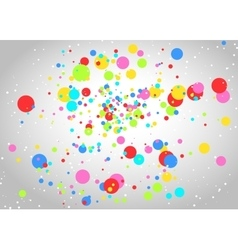 Light background with colorful circles vector image