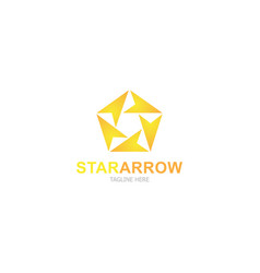 logo template star arrow vector image