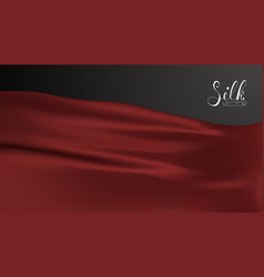 Luxury red silk on black vector