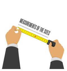 measuring tape in hand vector image