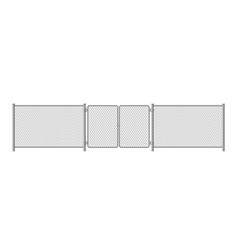 metal fence panels with welded wire mesh vector image