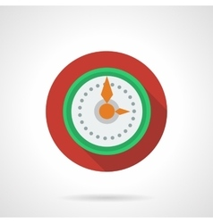 New Year clock round color icon vector image