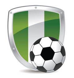 nigeria shield soccer vector image