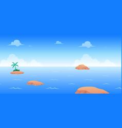 Ocean day game background vector