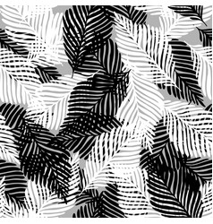 Plant palm leaf tropic seamless pattern abstract vector