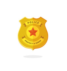 police badge symbol isolated clipart vector image