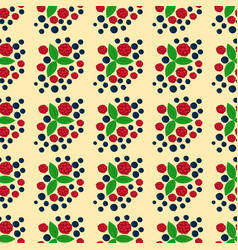 raspberry seamless pattern fresh berry red ripe vector image