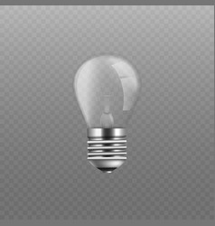 realistic isolated glass screw light bulb without vector image