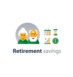 Retiremet pension finance insurance idea savings vector